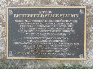 Butterfield Stage Station Historical Marker